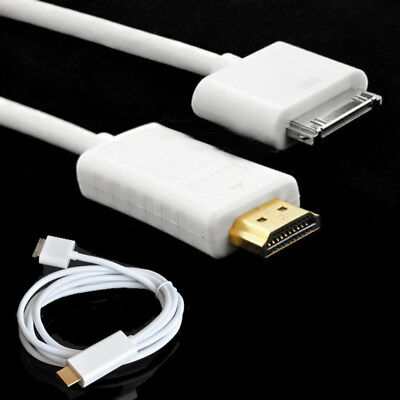 Dock Connector To HDMI TV Cable Adapter For iPad 2 3 iPhone 4S iPod Touch New