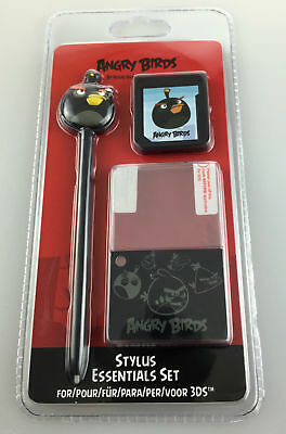 Angry Birds Stylus Essential Set For Nintendo 3DS Games Console Black Bird NEW