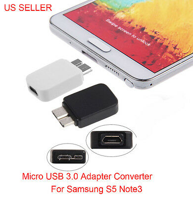 Converter For Samsung Galaxy S5 i9600 Note 3 N9000 Micro USB 2.0 To 3.0 Adapter