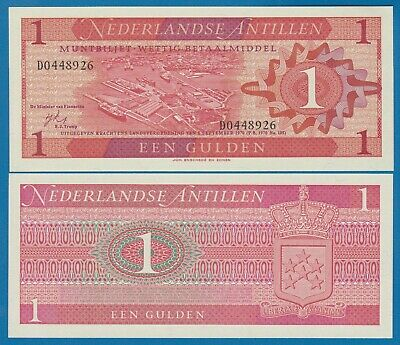Netherlands Antilles 1 Gulden P 20 1970 UNC Low Shipping! Combine FREE!