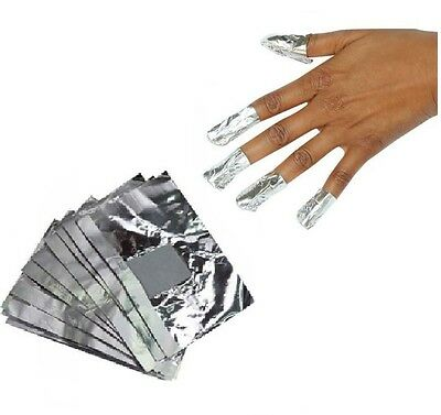 100 High Quality Nail Art Soak Off Gel/ Acrylic/Shellac Removal Foil Wraps