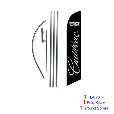 Cadillac 15' Feather Banner Swooper Flag Kit with pole+spike