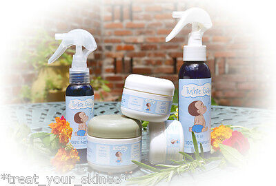 DIAPER RASH KIT! ALL-NATURAL, ORGANIC! Includes Spray & Cream. Pick your Size!