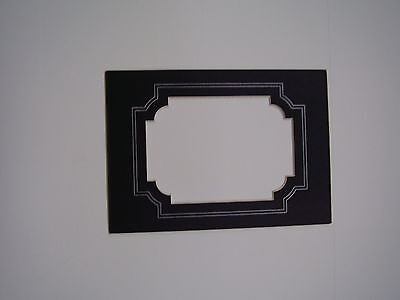 Picture Frame Mat 3.5x5 for 2.5x3.5 Aceo Sport photo Black silver scroll lines