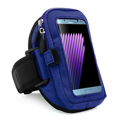 Black Zippered Armband Pouch for Samsung Galaxy Note 5 / 4 / S7 Edge / LG G5