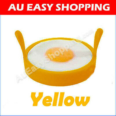 6 x yellow Egg Rings High-heat-resis tant Silicone Non Stick baking Kitchen BBQ