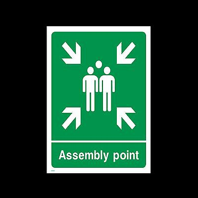 Fire Assembly Point - 3mm Metal Sign - 3 Sizes - Weatherproof (EE58)
