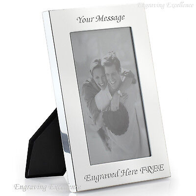 "Personalised Photo Frame 7"" x 5"" FREE Engraving Wedding Christening Present Gift"