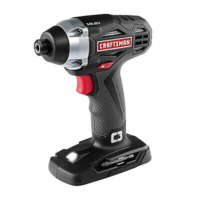 "NEW CRAFTSMAN C3 19.2v VOLT 1/4"" COMPACT CORDLESS IMPACT DRIVER w/ LIGHT 5727.1"