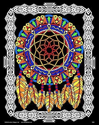 Dream Catcher - Large 16x20 Inch Fuzzy Velvet Coloring Poster