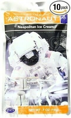 American Outdoor Products Astronaut Neapolitan Ice Cream 7 oz (pk of 10) NEW!