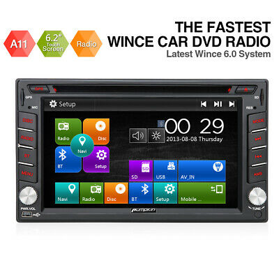 "HD 7"" Double 2 DIN Car DVD GPS Player Stereo Head Unit Sat Nav TouchScreen Radio"