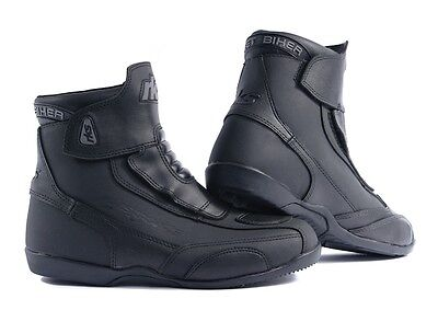 Rk-2 Short Leather Cruiser Ankle Motorbike Motorcycle Boots Ladies & Men