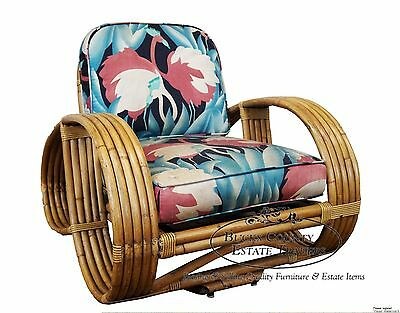 Bradston Paul Frankl Vintage Rattan Bamboo Lounge Chair