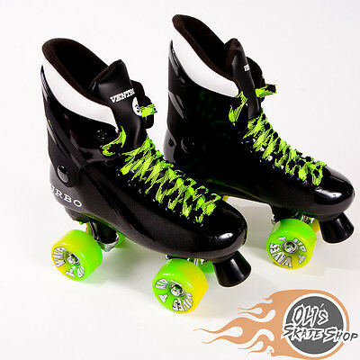 Ventro Pro Turbo Quad Roller Skate, Bauer Style - Lime Green/Yellow