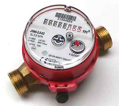 "JS90 15mm BSP 1/2"" Domestic Hot Water Flow Meter - Home/Domestic WRAS Approved"