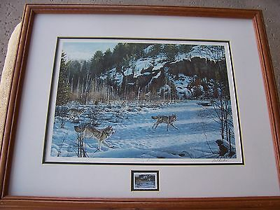1995 NORTH AMERICAN WILDLIFE SERIES LTD.EDITION PRINT w/MATCHING STAMP