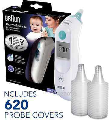 NEW Braun ThermoScan 5 6020 Baby Digital Ear Thermometer with 620 Probe Covers