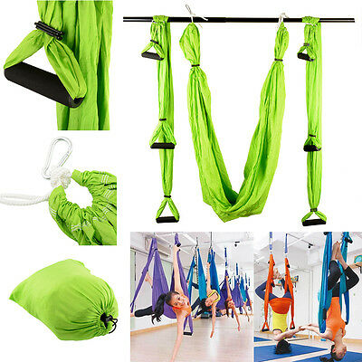 Inversion Therapy Anti-Gravity Aerial Yoga Swing Hanging Hammock Green