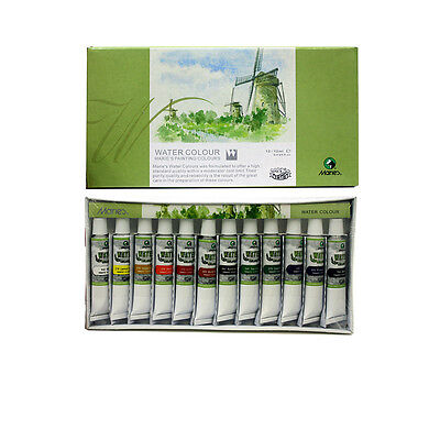 Marie's 12 Tubes Water Color Painting Pigment Set