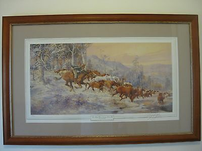 """""""Darcy Doyle"""" The Man From Snowy River lll Signed Limited Edition, Framed Print."""