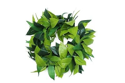 Hawaii Luau Party Maile King Artificial Fabric All Green Leaves Haku Head Band