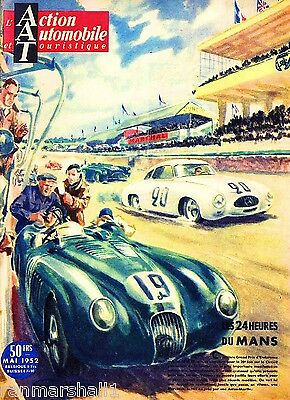 1952 - 24 Hours Le Mans France Automobile Race Car Advertisement Vintage Poster