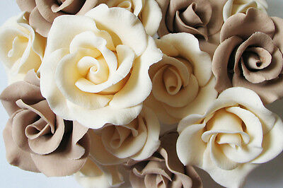 Sugar Rose Brand Flower Color Wedding Birthday Aniversary Cake Cupcake Toppers