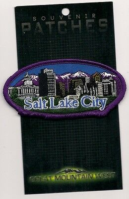 SOUVENIR TOURIST PATCH - SALT LAKE CITY UTAH - OVAL