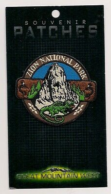 SOUVENIR COLLECTOR PATCH  ZION  NATIONAL PARK UTAH - LIZARD
