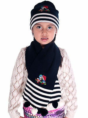 HOT Toddler Hat Scarf and Gloves Set with Animal design Winter Warm Accessories