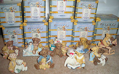 Cherished Teddies Friends Collection Lot 9 Bailey Baxter Homer Tess Todd IPR Ed