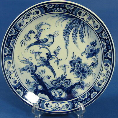 "f458: TWO BIRDS on magnificent 7½"" DELFT BLUE WALL PLATE by WESTRAVEN"