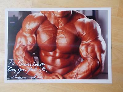 "SHAWN RAY muscle bodybuilding muscular SIGNED photo 5"" X 7"""