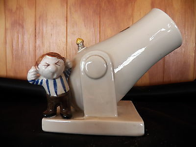Fitz & Floyd, Inc Japan,Cannon Matchstick Holder, Hand Painted, Very Cute