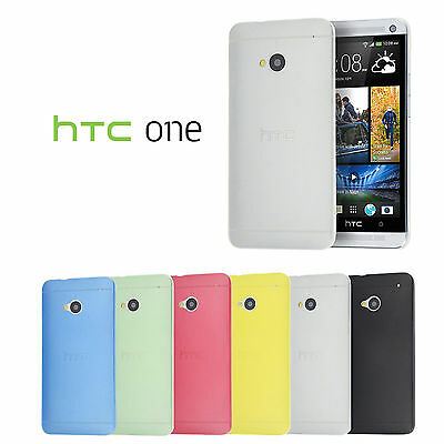 COVER PER HTC ONE M7 ULTRA SOTTILE 0.3 MM CUSTODIA SEMI-TRASPARENTE SLIM