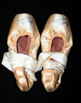 Jennifer Tinsley Signed Pointe Shoes - Soloist at NYCB New York City Ballet