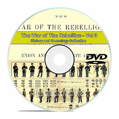 The Civil War of the Rebellion, Records, Atlas History Books Volume 3 DVD CD V88