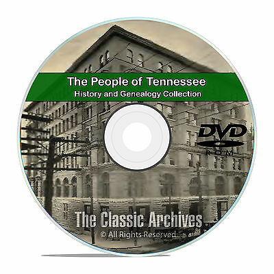 Tennessee TN, People Cities Towns History and Genealogy 245 Books DVD CD B16