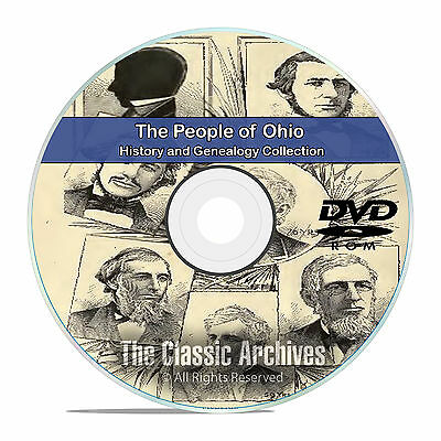 Ohio OH, People Cities Towns, History and Genealogy 325 Rare Books DVD CD B14
