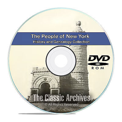 New York NY, People, Cities and Towns History and Genealogy 312 Books DVD CD B25