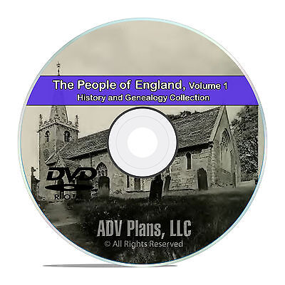 England Vol 1, People Cities Family History and Genealogy 215 Books DVD CD B31