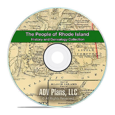 Rhode Island RI, People & Civil War, History and Genealogy Books 125 DVD CD B12