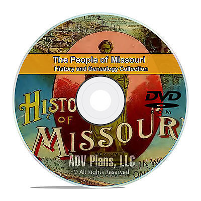 Missouri MO People & Civil War History and Genealogy 201 Rare Books DVD CD B23