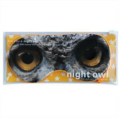 Night Owl Travel Eye Mask Blindfold Sleeping Cover Shade Sleep by Annabel Trends