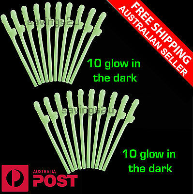 20 x Glow in the Dark Willy Penis Pecker Dicky Straws. Hens Bachelorette Party