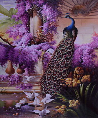 Modern HD prints oil painting on canvas Surreal beauty of the peacock 24x20