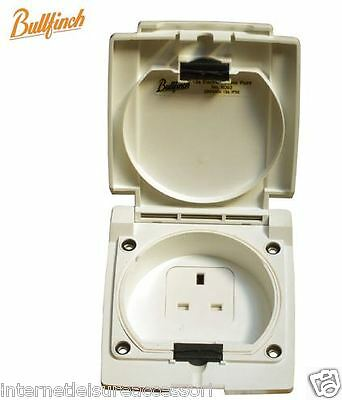 BULLFINCH 13A Mains Access Outlet Point  WHITE - Weatherproof IP55  -  No.6093
