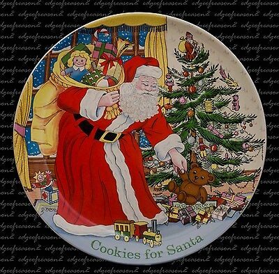 Spode Christmas Tree Cookies For Santa Plate Father Christmas Tree