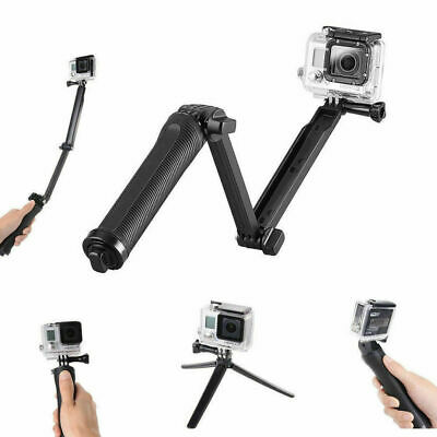 TOP Monopod Selfie Stick Tripod 3 Way Stand for Go Pro HD Hero 7 6 5 4 3+